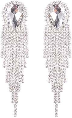 Topwholesalejewel Bridal Earrings Rhodium Crystal Chandelier Drop Dangle Earring