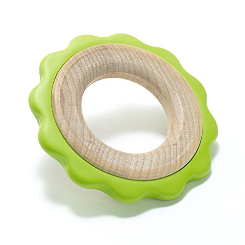 (BeginAgain - Green Ring Teether, Helps Provide Soothing Comfort for Your Little One While Promoting Fine Motor Skills, Green (For Infants 6 Months and Up))