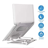 Laptop Stand, Adjustable Laptop Stand, Laptop Riser Portable Foldable Desktop Laptop Stand, Laptop Computer Stand Compatible with 10 to 17 Inch PC Notebook Tablets