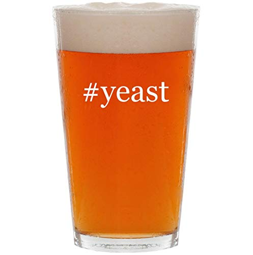 #yeast - 16oz Hashtag All Purpose Pint Beer Glass