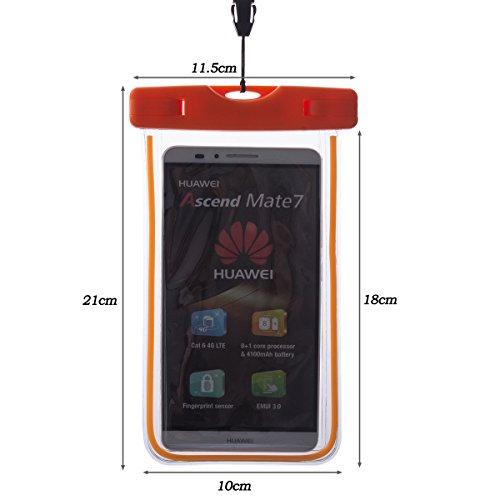 Beiuns Universal impermeable funda para Huawei G510/G610/G615/G620S/G630/G700/G730/G750/G6/G6 4G/G7/G8/G7 Plus/G8 MINI/Ascend G520/Ascend G600,etc