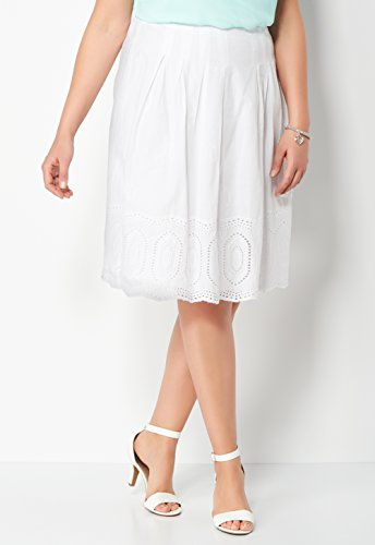 CHRISTOPHER & BANKS Pleated Embroidered Plus Size Skirt from CHRISTOPHER & BANKS
