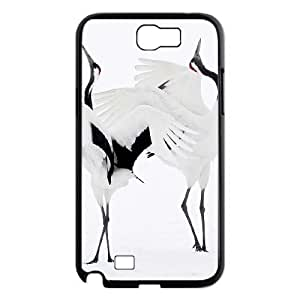 ALICASE Diy Design Back Case Red crowned Crane for Samsung Galaxy Note 2 N7100 [Pattern-1]