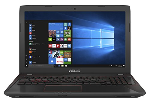 Asus FX553VD-DM236T 39,6 cm (15,6 Zoll, mattes Full-HD Display) Notebook (Intel Core i7-7700HQ, 16GB RAM, 1TB HDD, 128GB SSD, Nvidia GTX1050 2GB VRAM, ohne Laufwerk, Win 10) schwarz