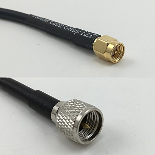 - 12 inch RG188 SMA MALE to MINI UHF MALE Pigtail Jumper RF coaxial cable 50ohm High Quality Quick USA Shipping