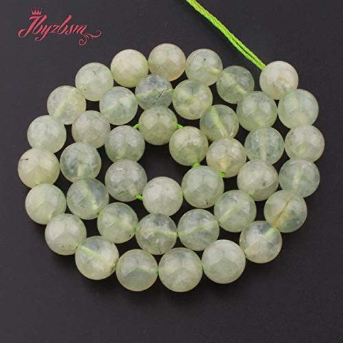 Calvas 6,8,10,12mm Smooth Round Beads Green Prehnites Natural Stone Beads for DIY Necklace Bracelat Jewelry Making 15