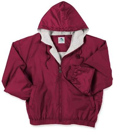 Augusta Sportswear Youth Hooded Fleece Lined Taffeta Jacket from Navy