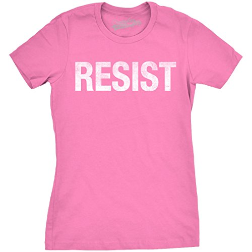 Womens Resist Tee United States of America Protest Rebel Political T Shirt (Pink) - XL