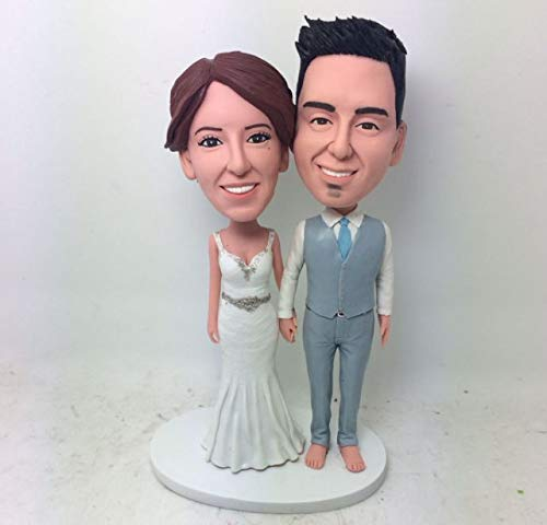 Custom Bobblehead Couple Personalized Wedding Cake Topper Custom Bobble Head Cake Topper Wedding Bobblehead Gift Custom Wedding Cake -