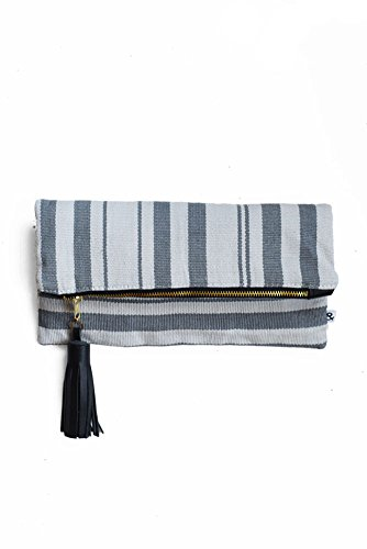 Handwoven Purse Fold Handmade Clutch Gray Over Guatemala Women's Clutch amp; from in 1pdw1Oxq