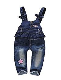 Kidscool Baby Denim Light Blue Soft Cute Overalls with Hat