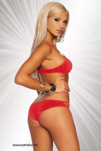 Unbekannt - Conjunto - para mujer Rojo