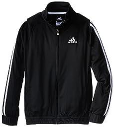 adidas Big Boys\' Loose Core F Z Jacket, Black/White, X-Large