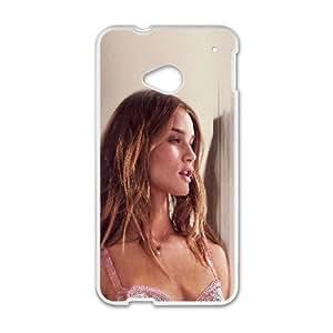HTC One M7 Cell Phone Case White hc58 rosie huntington whiteley sexy girl angel Hdxrp