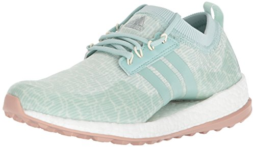 adidas Women's W Pure Boost XG Golf Shoe, Ash Green/White Tint/Ash Pearl, 8.5 Medium US