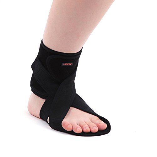 AIDER Dropfoot Braces Type 3 - Foot stabilizer worn with shoes, prevent inversion of feet, orthopedic medical equipment, lightweight material with adhensive velcro, improvement in gait(Right)