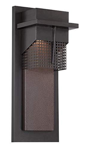 Large Wall Beacon Lantern Outdoor (Designers Fountain LED32621-BNB Beacon 7 Inch Led Wall Lantern)
