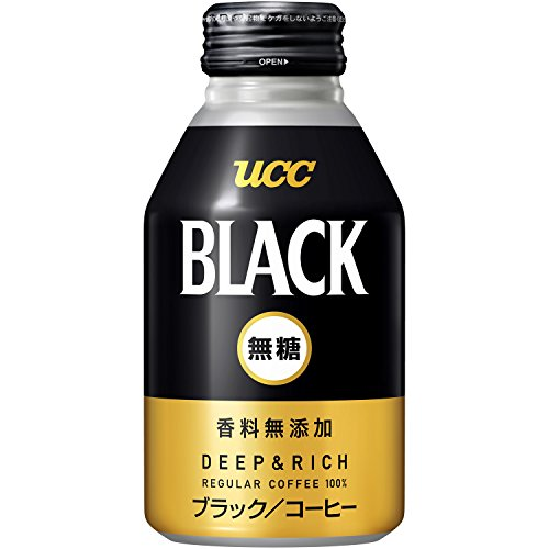 UCC BLACK no sugar DEEP & RICH recap cans 275gX24 by Black sugar-free