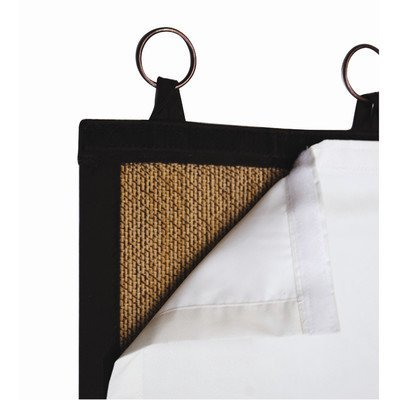Bamboo Ring Top Curtain BL02 38-Inch L x 80-Inch H Insulating Blackout Liner for Panel, Off-White by Blackout Liner for Bamboo Ring Top Curtain