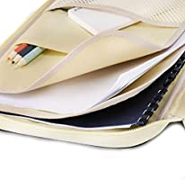 Pens Documents Pink SCTD A4 Document Bags Portfolio Padfolio Organizer-Multi-Functional Waterproof Travel File Folder Case Zippered Note Pouch for Pads Notebooks Planners,Files