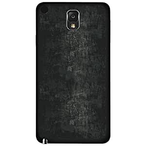 Grey Scratched Wall Hard Snap on Phone Case (Note 3 III)
