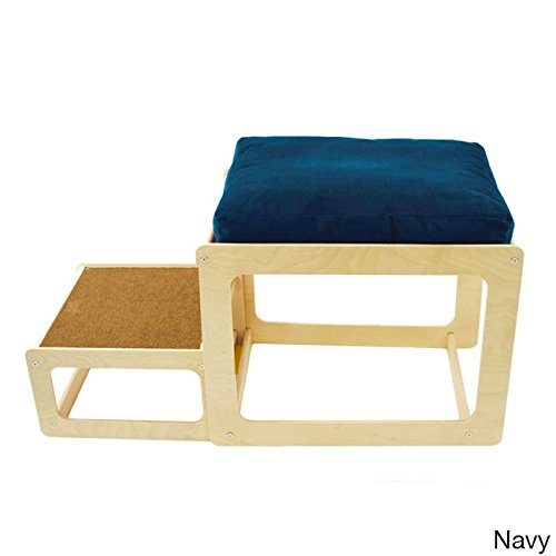The Savvy Pet Lacey's Lookout Small Pet Natural Window Seat Blue by Pet Savvy