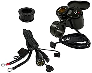 EKLIPES EK1-110B Black Cobra Ultimate Motorcycle USB Charging System