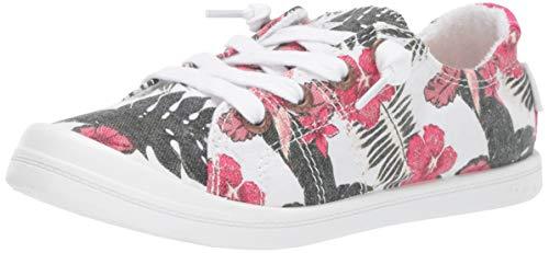 Roxy Girls' RG Bayshore Slip On Sneaker Shoe, Multi Bright Floral, 5 Medium Youth US Big Kid ()