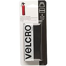"VELCRO Brand 90209 - Industrial Strength - 2"" x 4"" Strips, 4 Sets - Black"