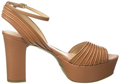 Guess Footwear Dress Sandal, Scarpe Col Tacco con Plateau Donna Marrone (Medium Brown)