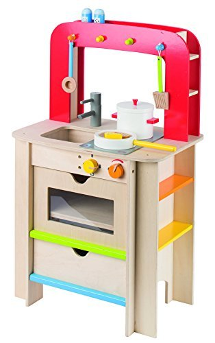 Goki Wooden Childrens Play Kitchen With Accessories By GoKi