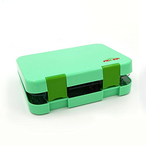 UPC 615311026245, Bento Lunch Box 5 Compartments With Removable,Lunch Box For Kids &Adults, Tritan Safe Food Materials , Easy To Clean, Lunch Storage Container 2 Buckles, Salad Box, GREEN