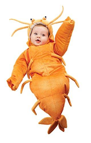 Underwraps Costumes Baby's Shrimp Bunting, Orange, (Toddler Shrimp Halloween Costume)