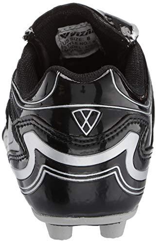 Vizari Striker FG Soccer Shoe (Toddler/Little Kid/Big Kid),Black/Silver,10 M US Toddler by Vizari (Image #2)