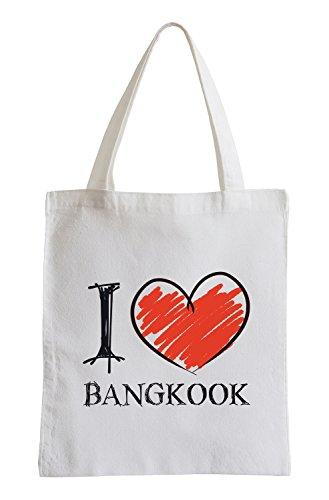 Amo Bangkok Fun sacchetto di iuta