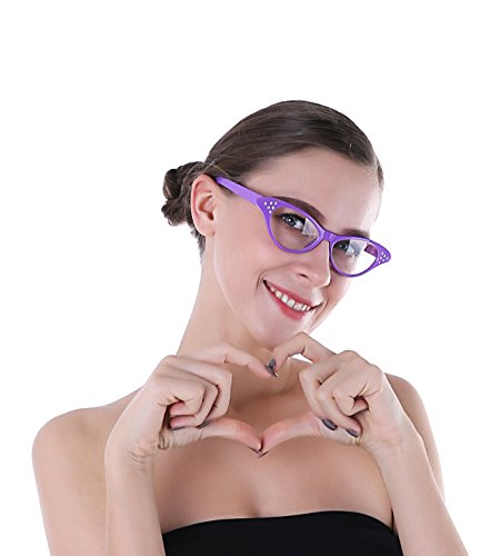Purple Cat Eye Glasses and 50s Glasses For - Cats Eyes Glasses