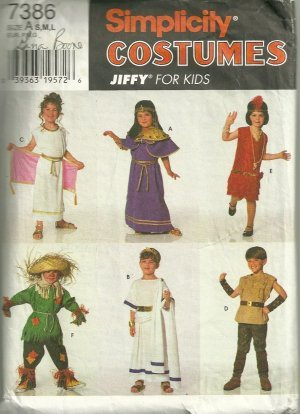 Make A Flapper Costume (Simplicity 7386 sewing pattern makes Childrens Costumes Flapper, Scarecrow More size 3-8 OOP)