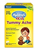 Hylands 4 Kids Tummy Ache Tablets, Natural Relief of Upset Stomach, Diarrhea and Gas for Kids, 50 Count - Buy Packs and SAVE (Pack of 4)