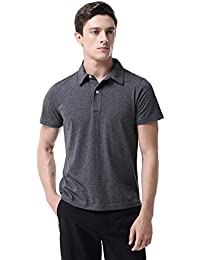 "<span class=""a-offscreen"">[Sponsored]</span>T-05 Men's Casual Classic Pure Cotton Solid Golf Short Sleeve Polo Shirt"