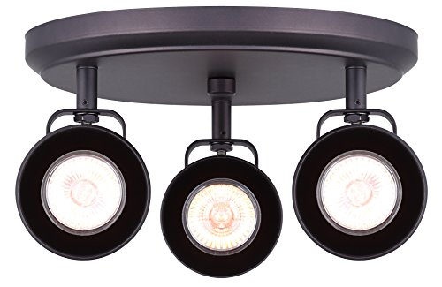 CANARM ICW622A03ORB10 LTD Polo 3 Light Ceiling/Wall, Oil Rubbed Bronze with Adjustable Heads (Rail Light Directional Three)