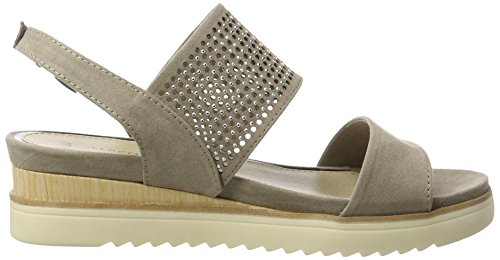 Marco Tozzi 28204, Sandalias con Cuña para Mujer Beige (Taupe 341)