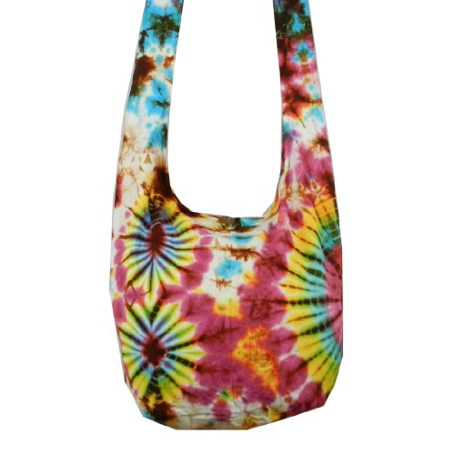 Dye Shoulder Sling Cotton Crossbody Purse Bag Tie Bohemian BTP VY5 Firework Tw5BqWfUx