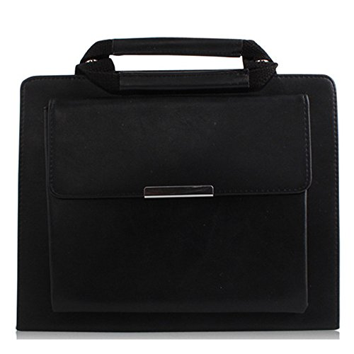 MIYA LTD 9.7'' iPad Air 2 Case Business Handbag Style, Portable iPad Multifunctional Protective Stand Handbag Handle Pocket Magnetic,PU Leather Cover Apple iPad Air 2 9.7 inch-Black by MIYA LTD