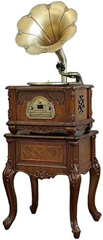 Gramophone Record Player With Stand And Speakers, 3 Speed Tu