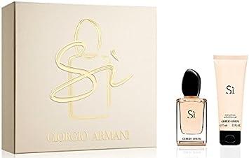Giorgio Armani SI para mujer. Set (Eau de Perfume Vaporizador 30 Ml + Loción Corporal 75 ml), Pack de 1 (1 x 1 pieza).: Amazon.es: Belleza