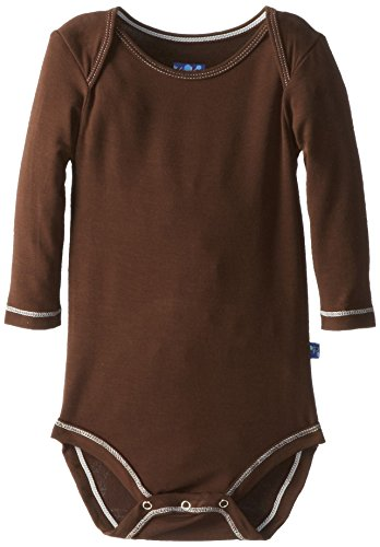Price comparison product image KicKee Pants Long Sleeved One-Piece, Bark, Newborn