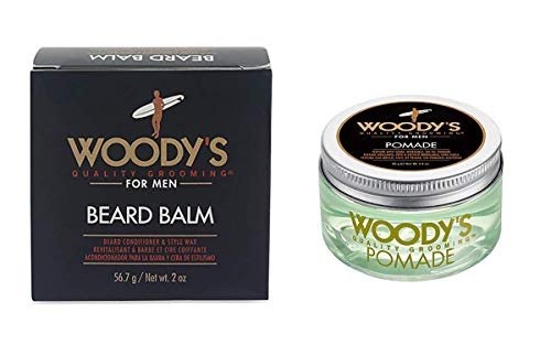 Pomade Web (Woody's Beard Balm, 2 Ounce with Woody's Pomade for Men, Pomade, 3.4 Ounce)