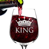 12.75 oz. King Wine Glass - Man Gift for Him - Present for Dad, Brother, Uncle, Friend