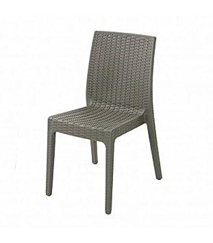Selene Plastique Chaise Gamme En 2TaupeAmazon De Haut Lot 8w0OkPXn