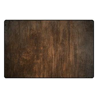 leezone grano de madera impresión Rectángulo alfombrilla de suelo decorativo alfombra: Amazon.es: Amazon.es